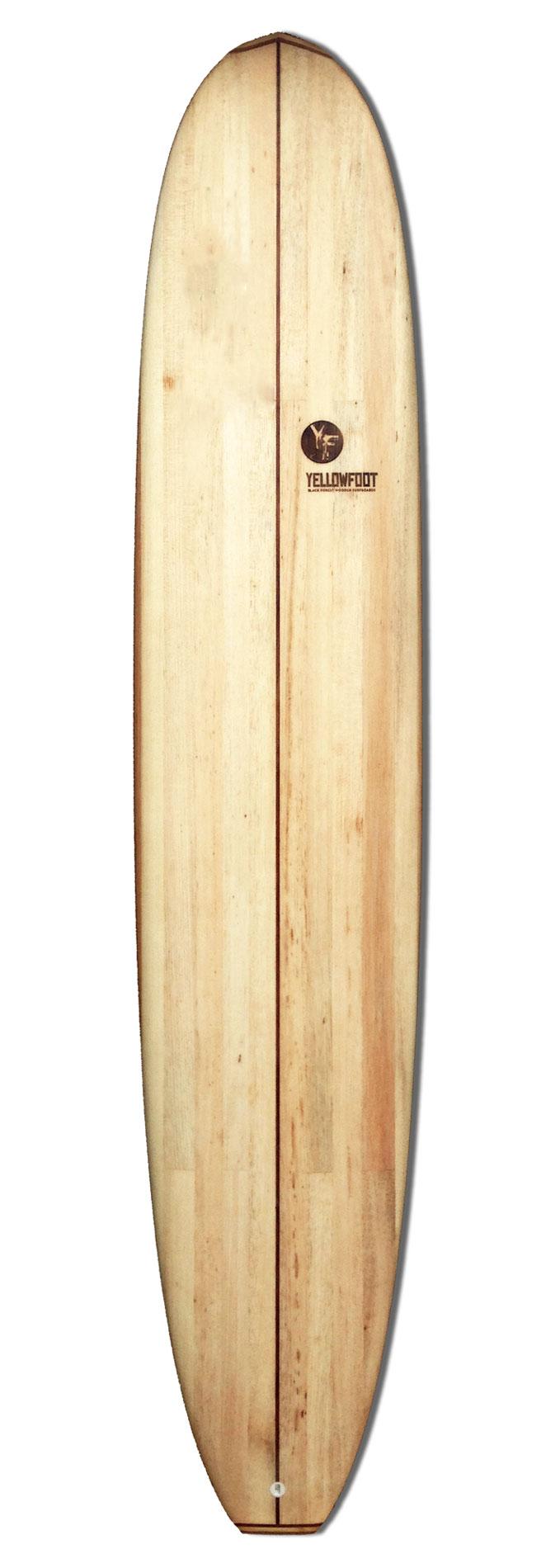 Longboard-aus-Holz
